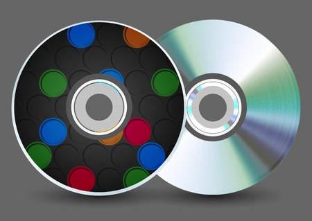 disk on gray background. Stock Vector - 17660380
