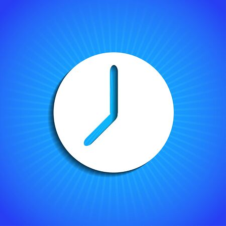 Vector icon on blue background. Eps10 Vector