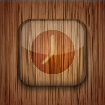 Vector wooden app icon on wooden background. Eps10 Stock Vector - 17660647