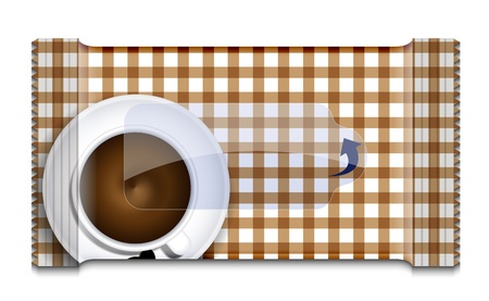 coffee packaging for wet wipes on white. Stock Vector - 17682113