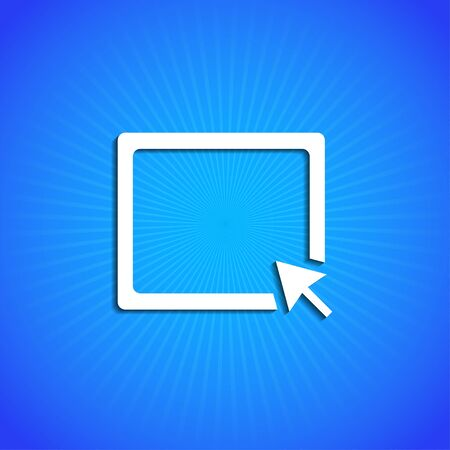 keyboard keys: Vector icon on blue background. Eps10