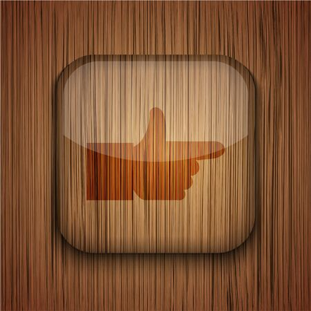 Vector wooden app icon on wooden background. Eps10 Stock Vector - 17660783
