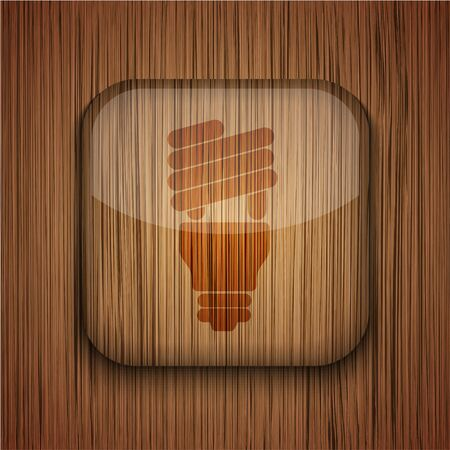 Vector wooden app icon on wooden background. Eps10 Stock Vector - 17660787