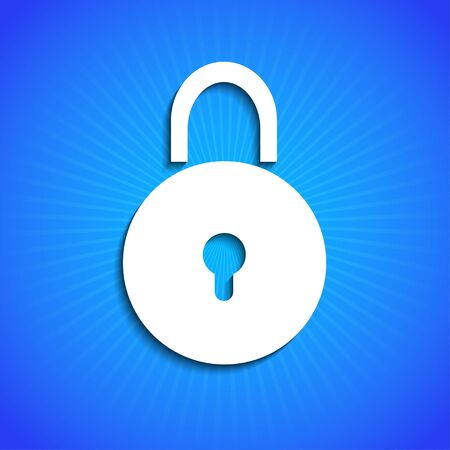 access control: Vector icon on blue background. Eps10