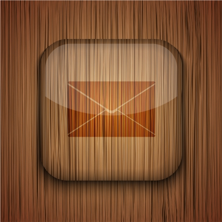 Vector wooden app icon on wooden background. Eps10 Stock Vector - 17660795