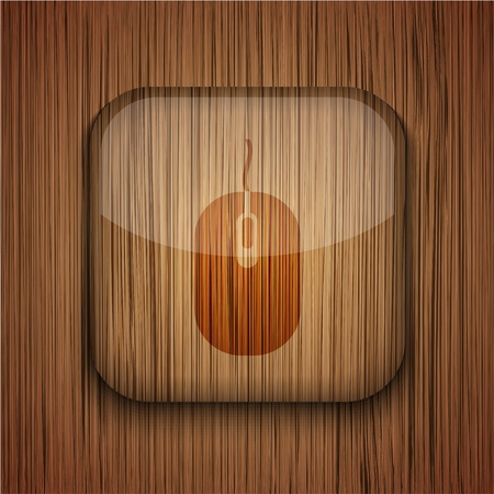 Vector wooden app icon on wooden background. Eps10 Stock Vector - 17660796