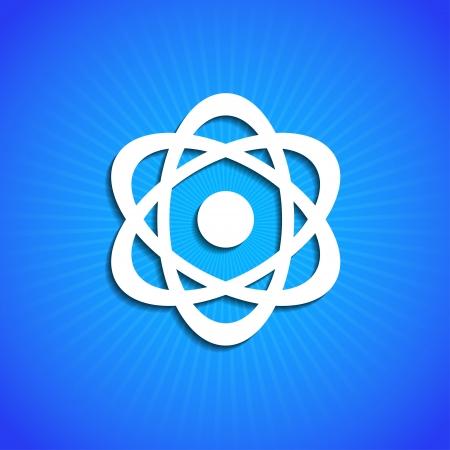 uranium: icon on blue background.