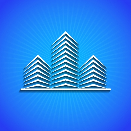 realty: icon on blue background.
