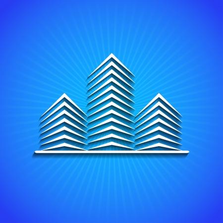 pictogram op blauwe achtergrond.