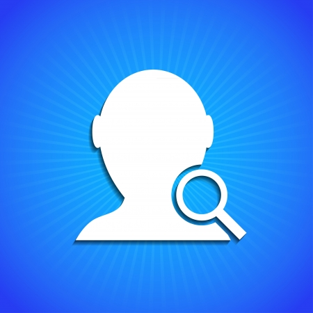 Vector icon on blue background. Eps10
