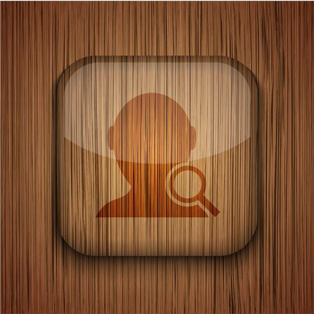 wooden app icon on wooden background. Stock Vector - 17681806
