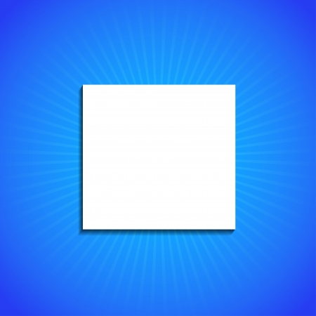 icon on blue background.  Vector