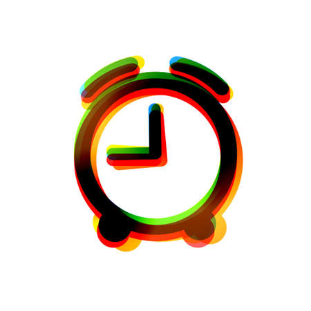 abstract icon on white background. Vector