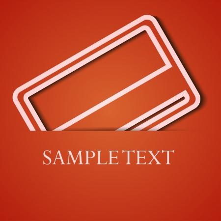 background. Orange icon applique. Stock Vector - 18074065