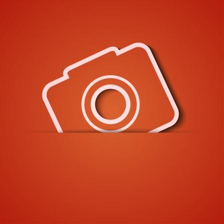 achtergrond. Oranje pictogram applique.