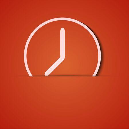 time clock: background. Orange icon applique.