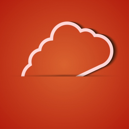 background. Orange icon applique. Stock Vector - 18073876