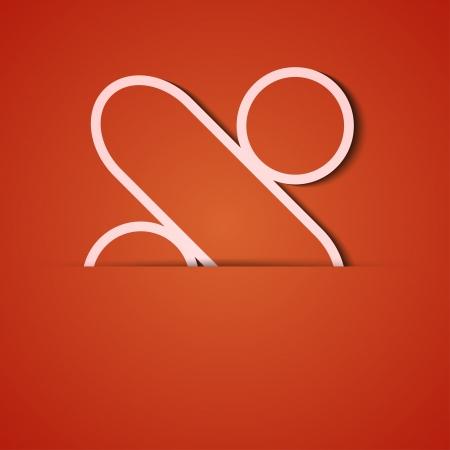 background. Orange icon applique. Stock Vector - 18073793