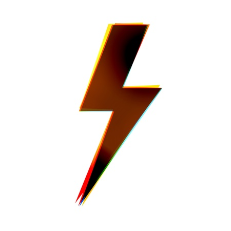 electrocute: abstract icon on white background.