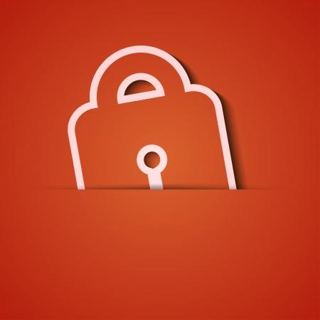 background. Orange icon applique.