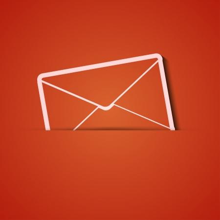 background. Orange icon applique. Stock Vector - 18073806