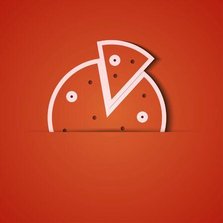 achtergrond. Oranje pictogram applique.10