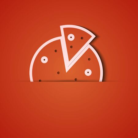 background. Orange icon applique.10 Vector