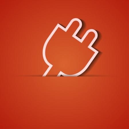 socket adapters: background. Orange icon applique.