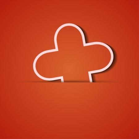 background. Orange icon applique. Stock Vector - 18073840