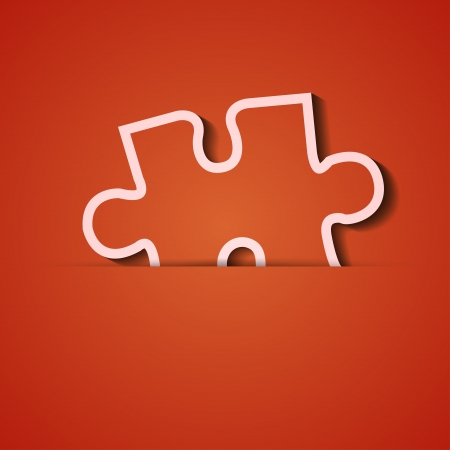 background. Orange icon applique. Vector