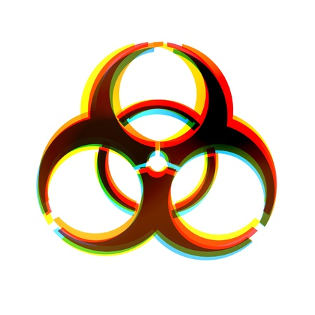 biological warfare: abstract icon on white background.