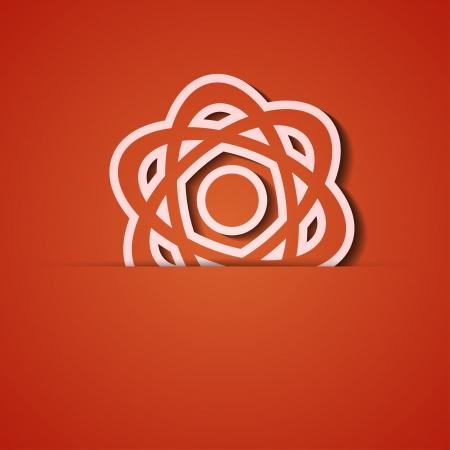 background. Orange icon applique. Stock Vector - 18074059