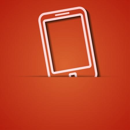 background. Orange icon applique. Stock Vector - 18073829