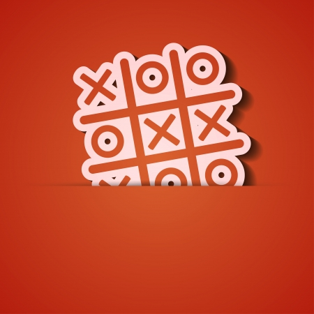 background. Orange icon applique. Stock Vector - 18074066