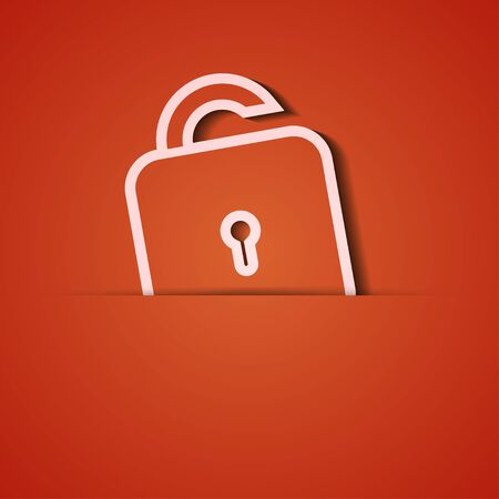 background. Orange icon applique. Vector