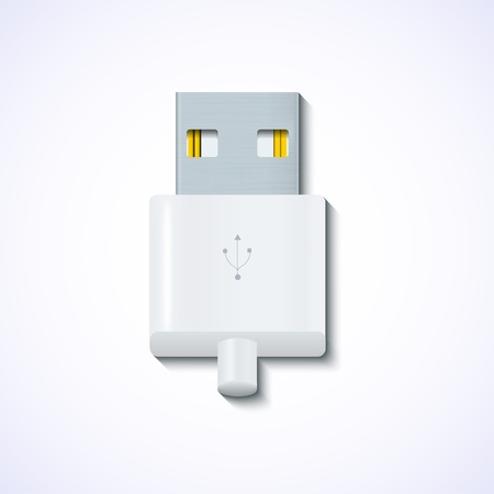 usb on blue background. Vector