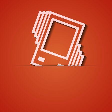sleepiness: background. Orange icon applique.