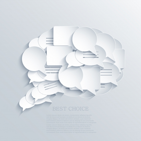 message box: bubble speech background.