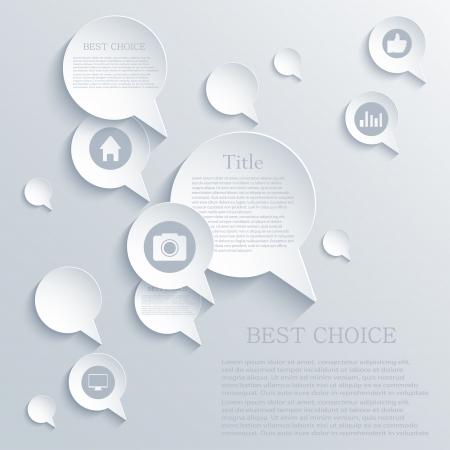 bubble speech background.