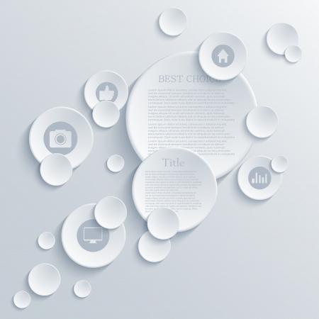 Vector infographic background design. Eps10 Ilustração