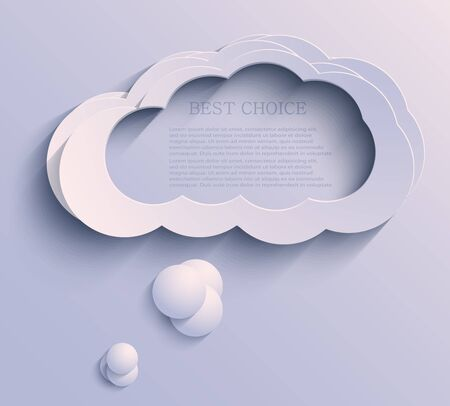 cloud background.  Vector