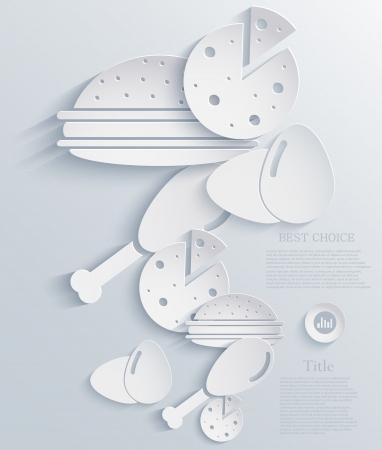 gammon: comida infograf�a dise�o.