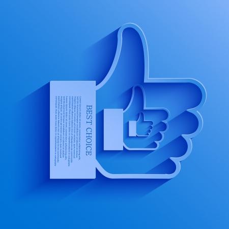 thumb up icon background.