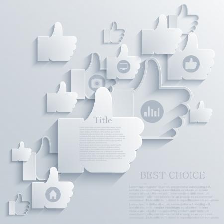 thumb up icon background Illustration
