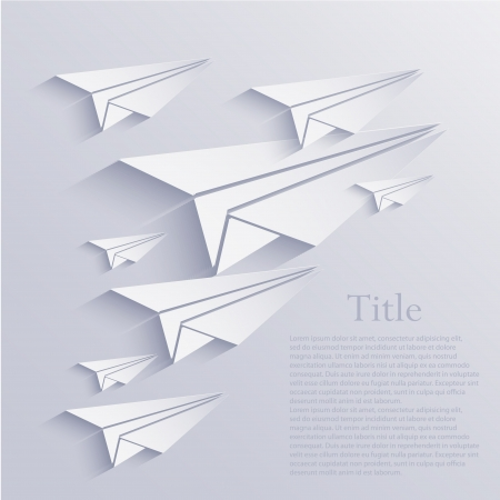 origami airplane icon background.  Vector