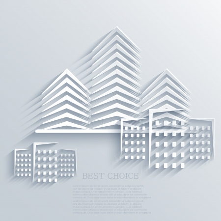 icone immobilier: Immobilier ic�ne arri�re-plan.