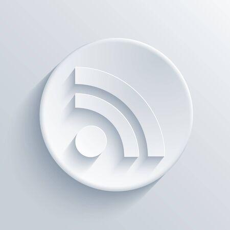 rss feed icon: light circle icon.  Illustration