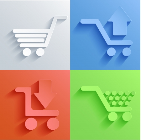 import trade: shopping icon set backgrounds.