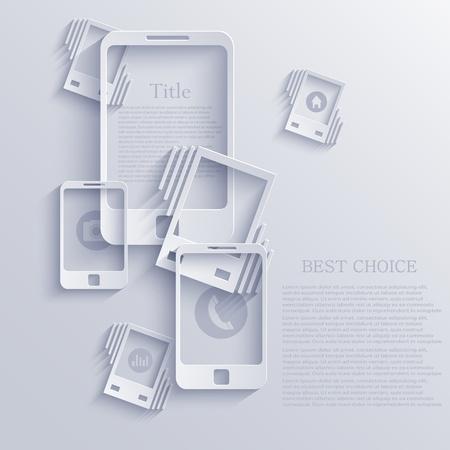 smartphone icon background. Vector