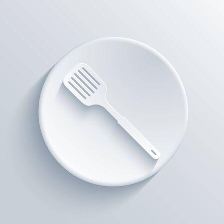 heatproof: light circle icon.  Illustration